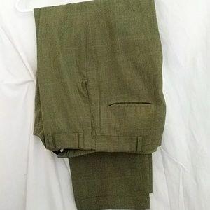 Just In  Mens Sz 34 Dress  Pants Green Self Sizer